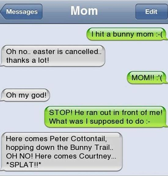 29 Funny Text Messages from Mom & Dad