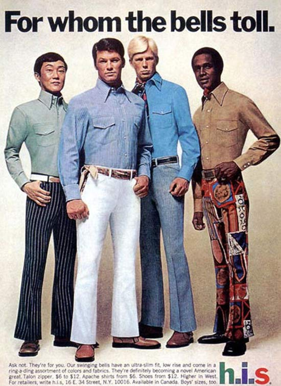 h.i.s bell bottoms ~ 35 Bitchin' 1970s Mens Fashions