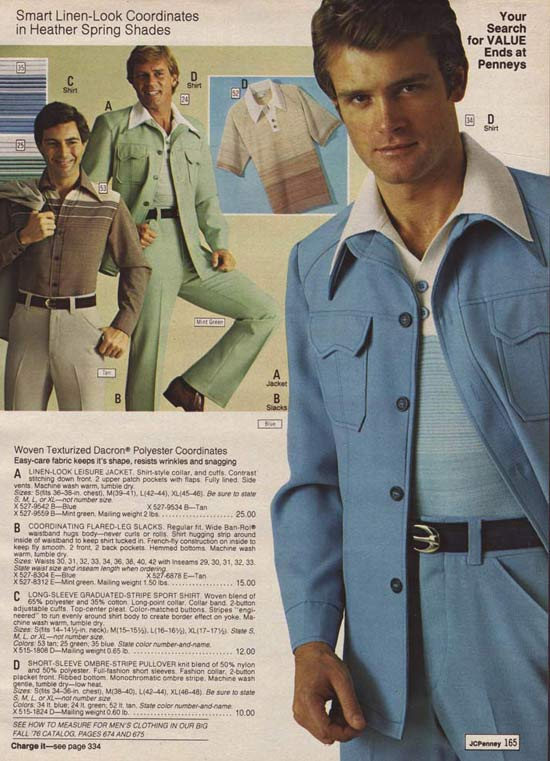 Groovy Leisure Suits ~ 35 Bitchin' 70s Mens Fashions