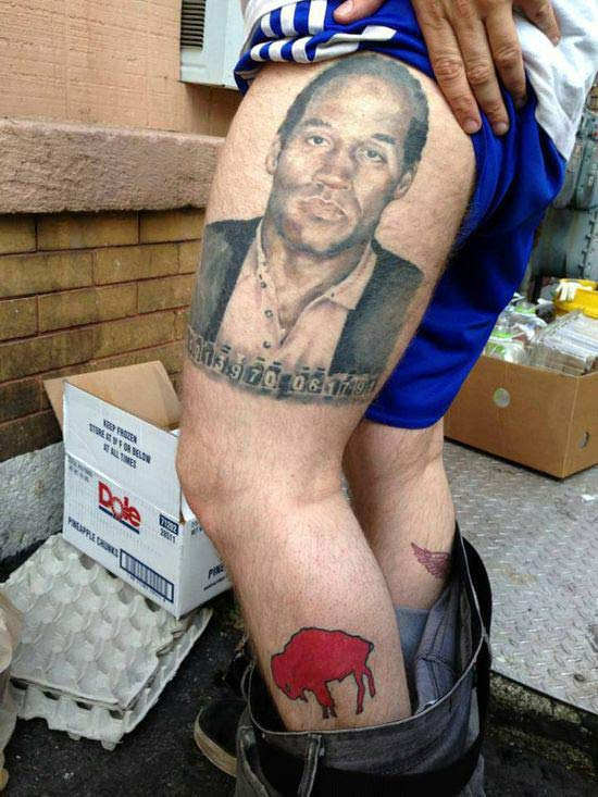 O.J. Buffalo Bills ~ 24 of the Worst NFL Fan Tattoos