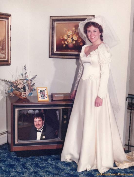 When You Marry a Poltergeist ~ 14 Funny Wedding Pics
