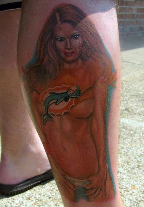 Miami Dolphins ~ 24 of the Worst NFL Fan Tattoos