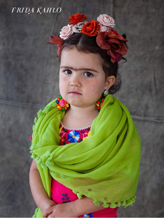 Frida Kahol ~ 30 Great Halloween Costumes for Kids