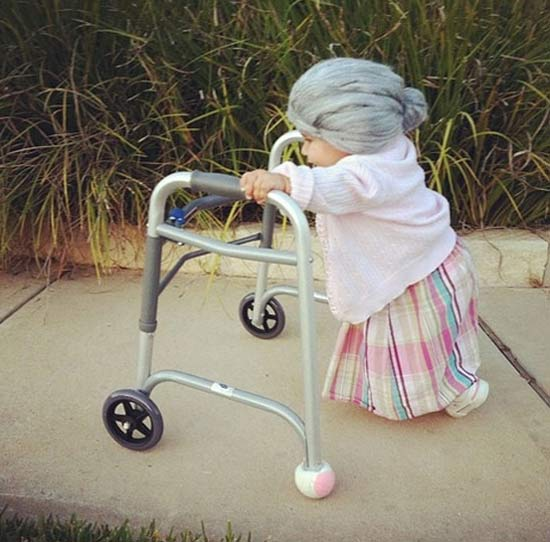 Little Old Lady ~ 30 Great Halloween Costumes for Kids