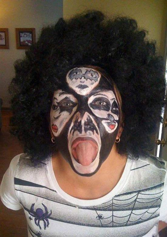 Kiss Face ~ 25 Bad to Tasteless Halloween Costumes