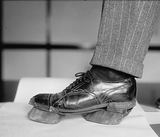 Moonshine cow hoove shoes to disguise their footptints ~ 28 Historical Must See Photos