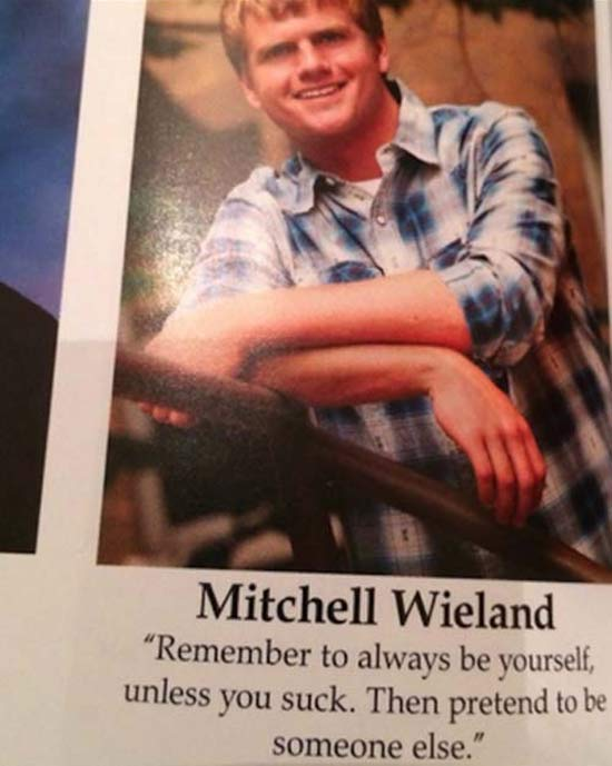 ~ 35 of the Funniest Yearbook Quotes Ever ~