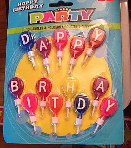 Dappy Birthday ~ 27 You Had One Job Fails