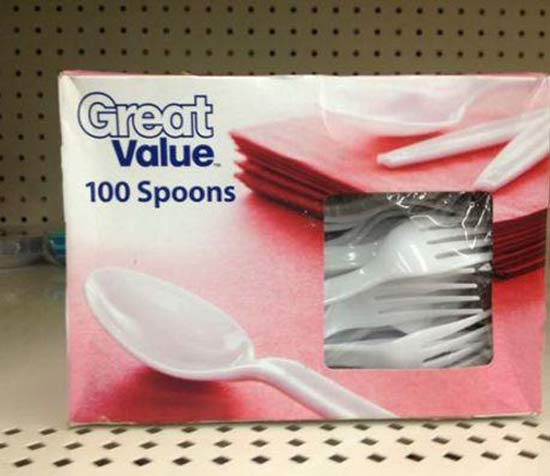Great Value Spoons ~ 27 You Had One Job Fails