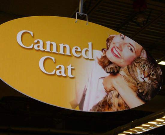 Canned Cat ~ 25 Funny, Strange Signs