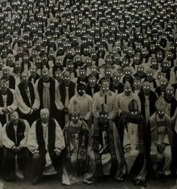 Pope, Bishops, Priests with glowing eyes ~ 25 Creepy Photos