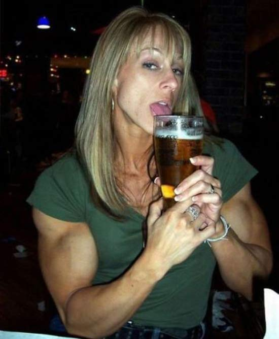 Tammy's Beer Curls ~ 15 Awkwardly Funny Family Photos
