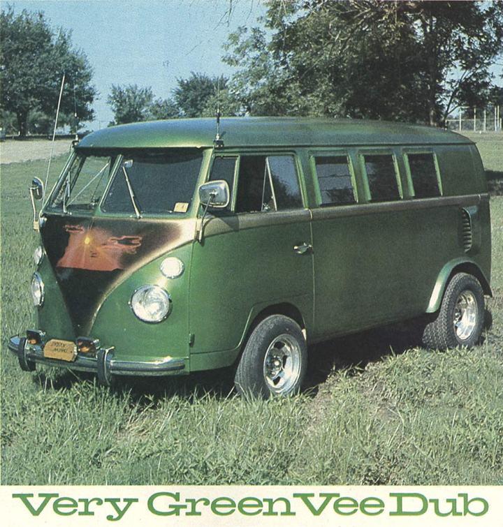 1970s VW Custom Van ~ Very Green Vee Dub