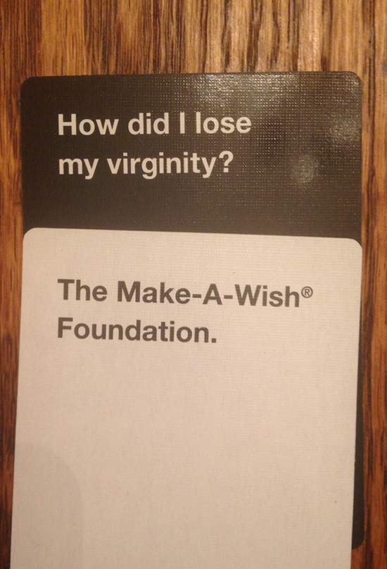 Funny Notes: How Do I Lose My Virginity? The Make-a-Wish Foundation