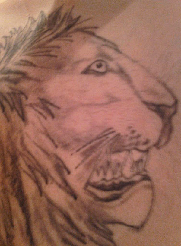 Lion Head Profile ~ 15 of the Worst Bad Tattoos