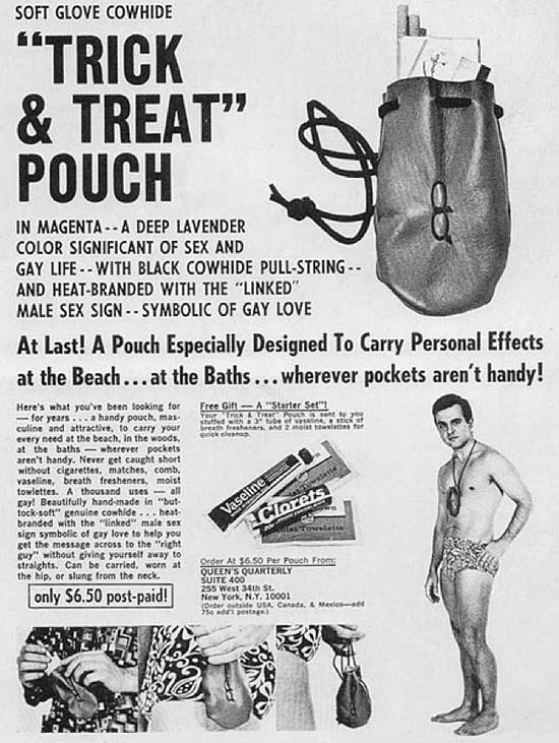 Vintage Ads: Trick or Treat Pouch for men