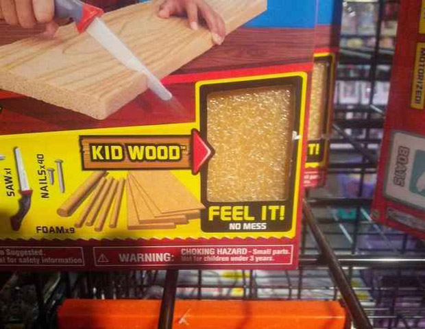 Construction toy: Kid's wood, feel it! ~ You have such a dirty mind