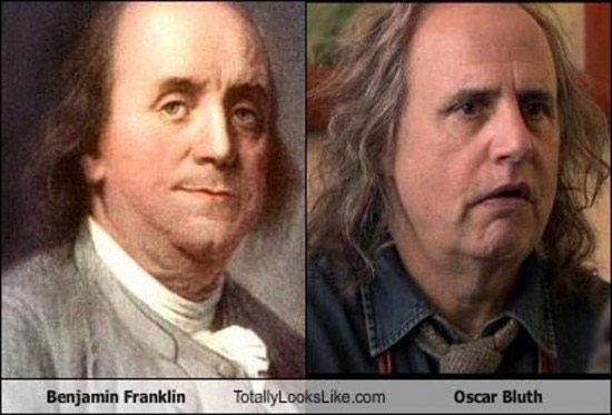 Celebrities that look like Historical Figures ~ Benjamin Franklin Oascar Bluth