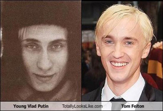 Celebrities that look like Historical Figures ~ Young Vladimir Putin Tom Felton