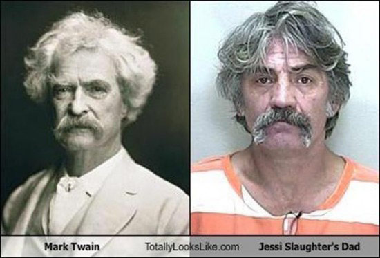 Celebrities that look like Historical Figures ~ Mark Twain Jesse Slaughter's Dad Mugshot