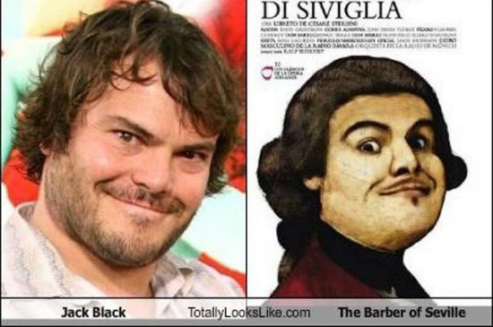 Celebrities that look like Historical Figures ~ Jack Black Barger of Seville