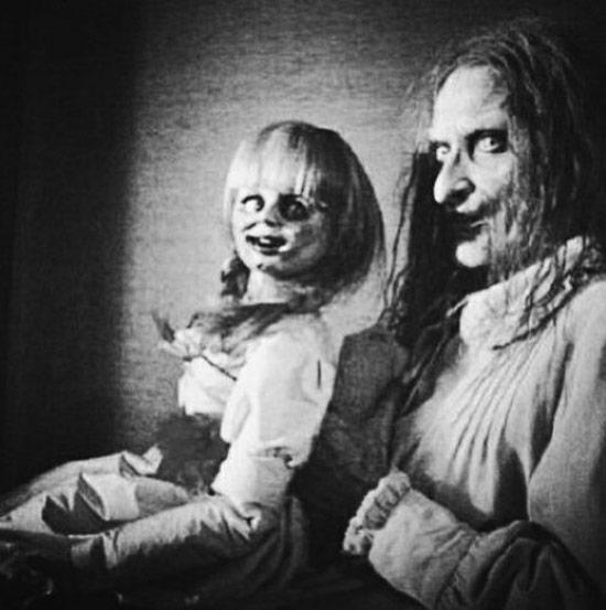 Creepy Old Vintage Photos~ scary woman with creepy doll