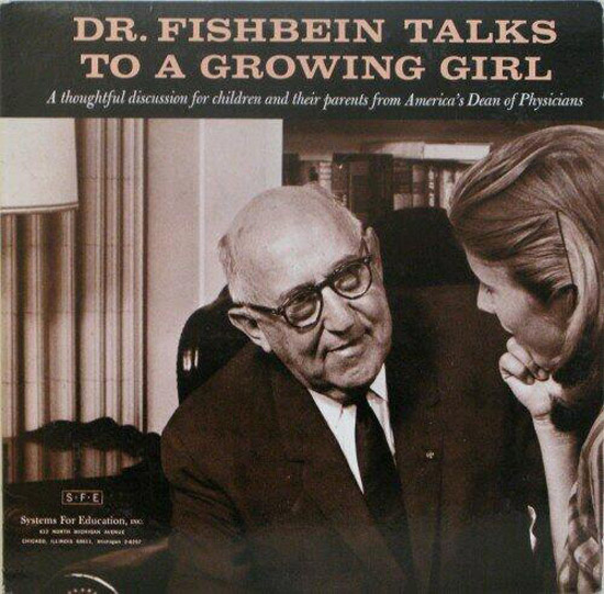Dr. Fishbein talks to growing girls ~ Funny, Creepy Bad Album Cover Art