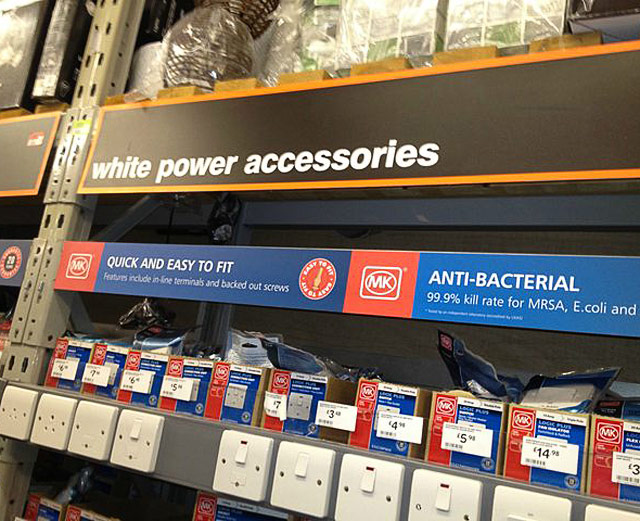 funny signs white power accessories