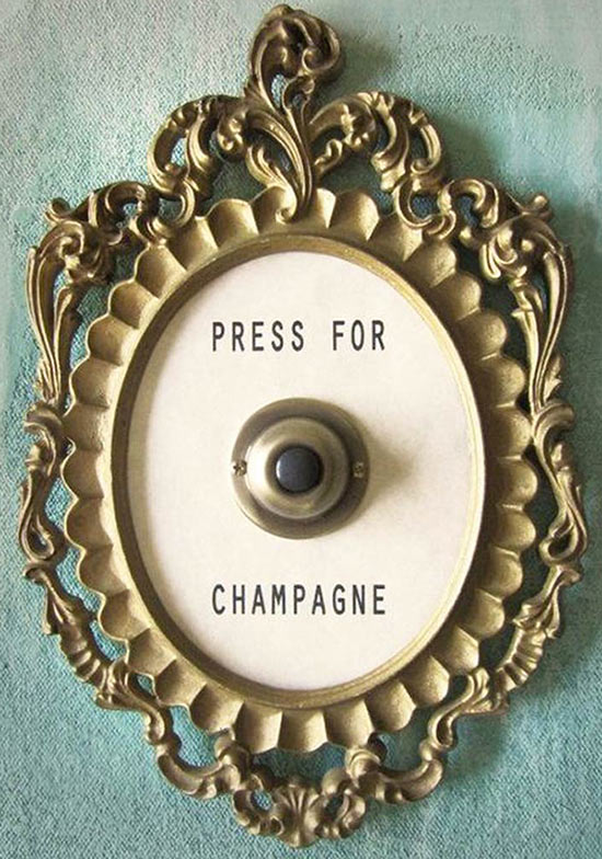 doorbell: Press for Champagne