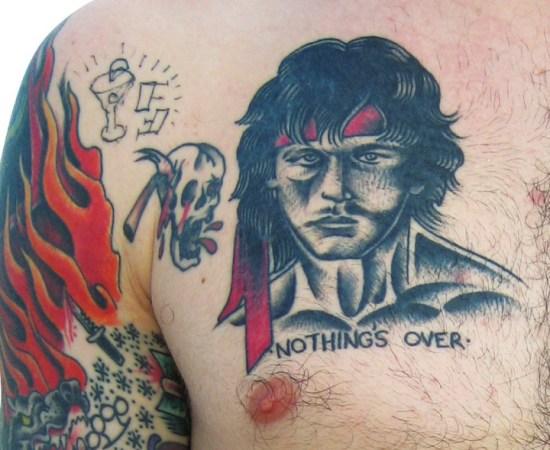 Nothing's Over Rambo tattoo, worst, bad