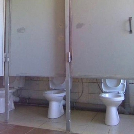 You Had One Job Fails ~ high toilet stall doors