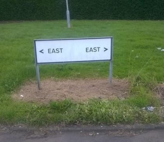 You Had One Job Fails ~ East Funny Sign