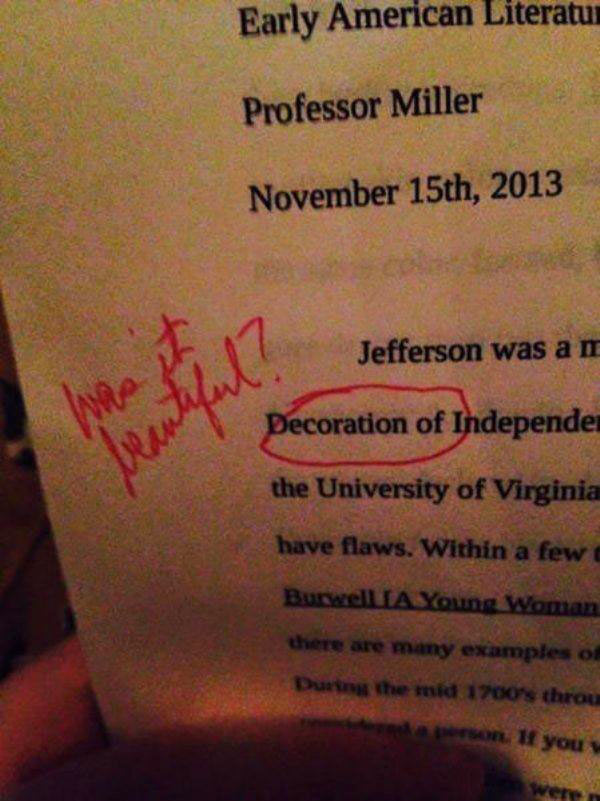 Funny Spelling & Grammar Fails~ Decoration of Independence