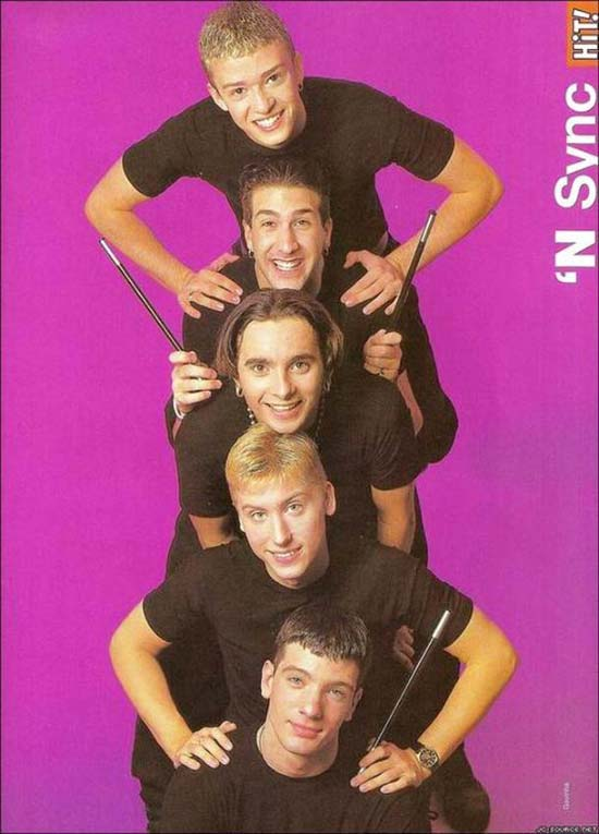 Funny pics~ classic teen magazine poster of 'N Sync, 1990s