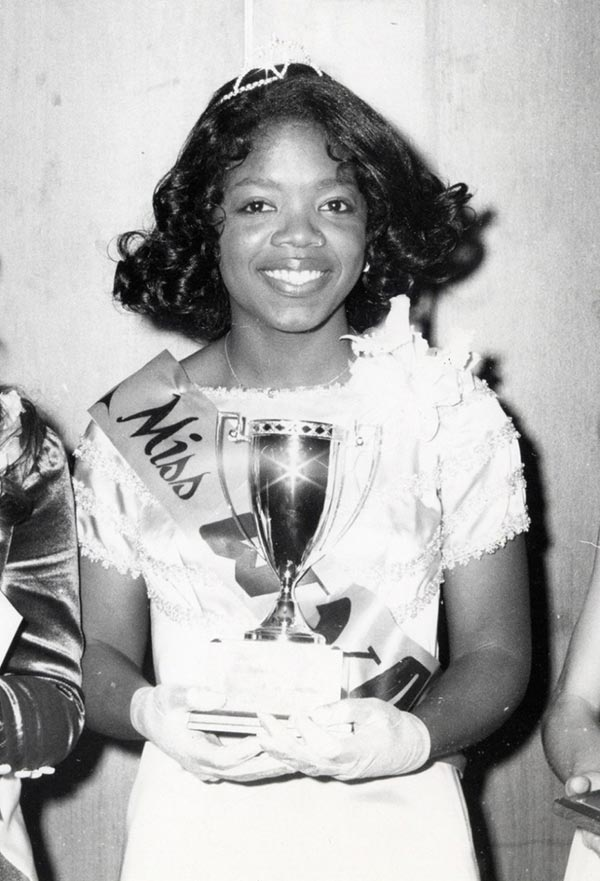 Young Oprah Winfrey, age 17, 1971, Miss Black Tennessee