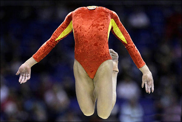 perfectly timed photos ~ headless gymnast