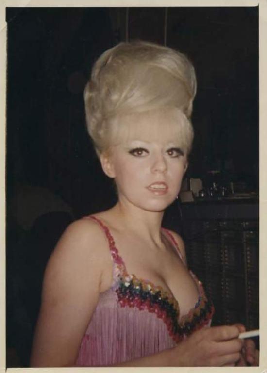 vintage 1960s go go big hair blonde
