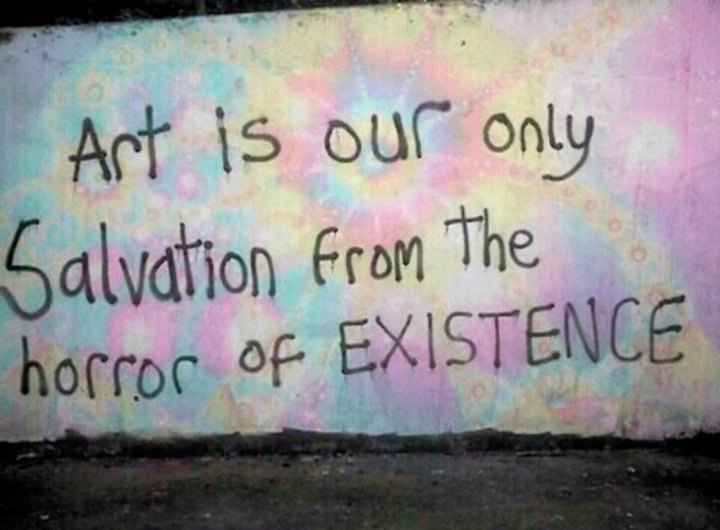Funny Pics ~ 37 Outrageous Images ~ inspirational quote graffiti salvation from horror of existence