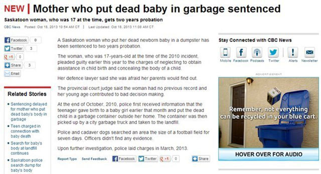 Funny Bad Ad Placement Fails ~ baby garbage