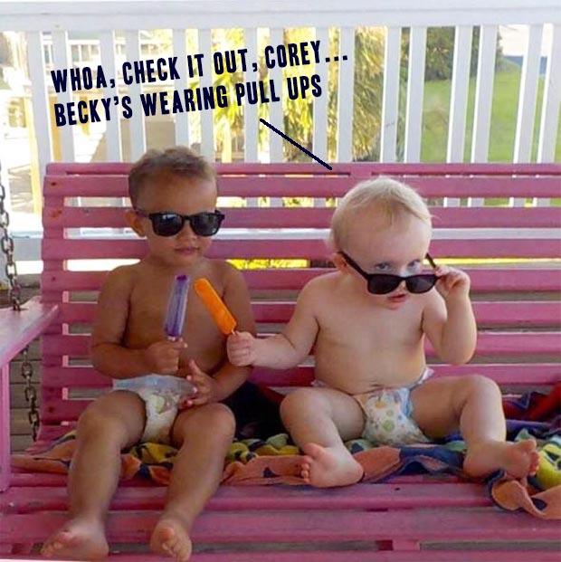 Funny Pics & Memes ~ baby meme diapers sunglasses pull ups