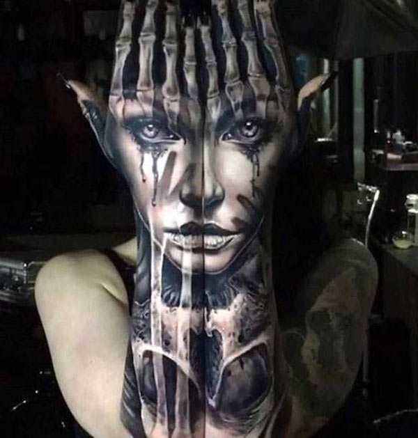 Best tattoos ~ Incredible ink on arms and hands of face