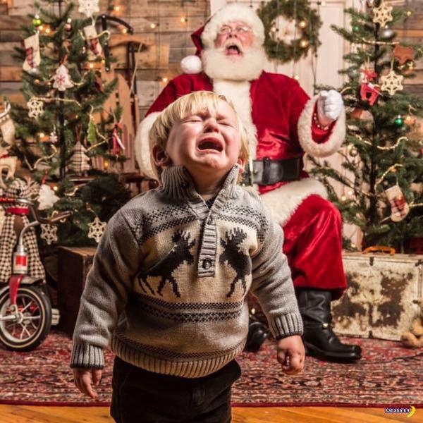 Funny Pics & Memes ~ crying kid, screaming Santa's lap