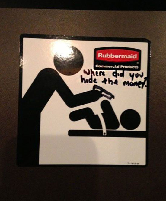 35 Funny Pics ~ funny bathroom changing table sign