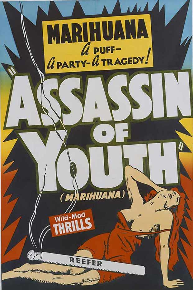 Assassin of Youth ~ 13 anti-reefer movie posters from the 1930's & 40's. Propaganda to fight marijuana use in teens and adults
