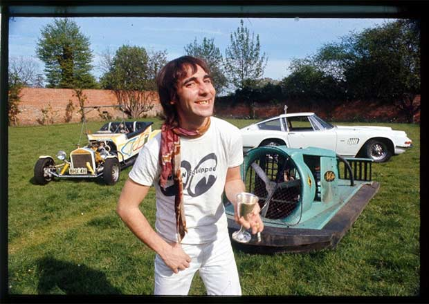 23 Rock Star & Their Classic Cars ~ Keith Moon AC 428 and his infamous hovercraft