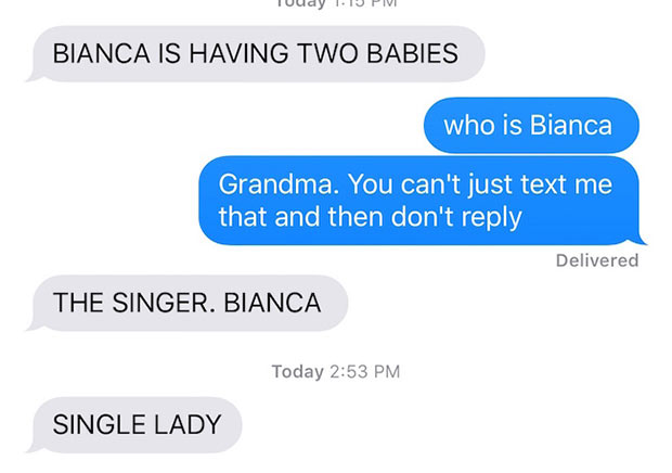 33 Funny Pics ~ Funny texts from grandma, Beyonce having twins