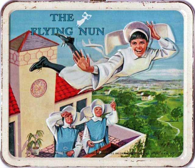 35 Funny Pics ~ vintage Flying Nun lunchbox