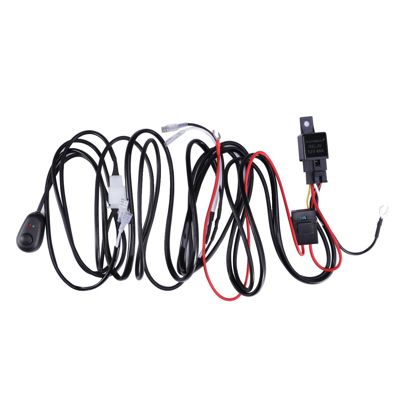 Led Wiring Loom Harness Kit One To Two Universal Driving