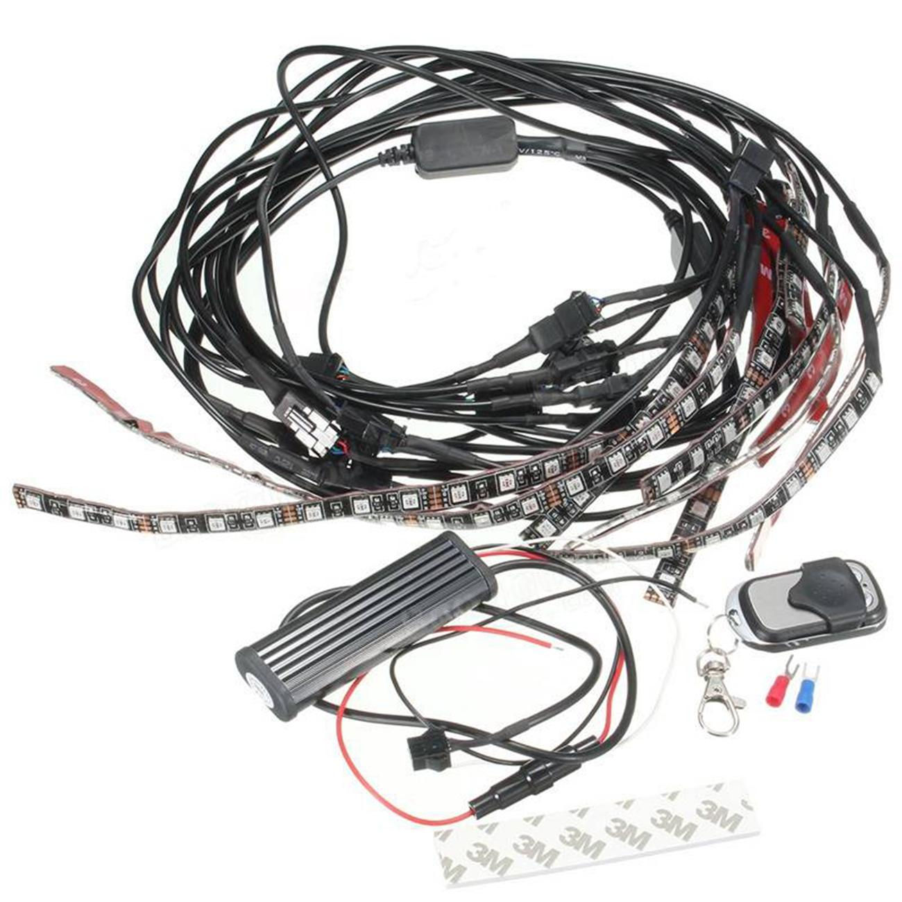 12x Motorcycle Led Neon Under Glow Light Strip Multi Color For Harley Davidson
