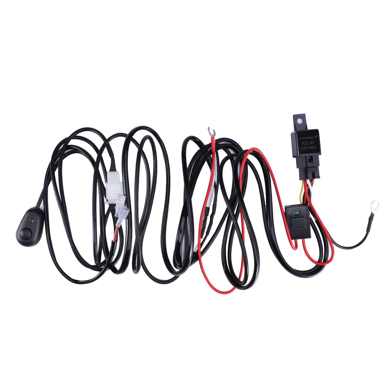 12v 40a Led Light Bar Driving Light Wiring Loom Harness